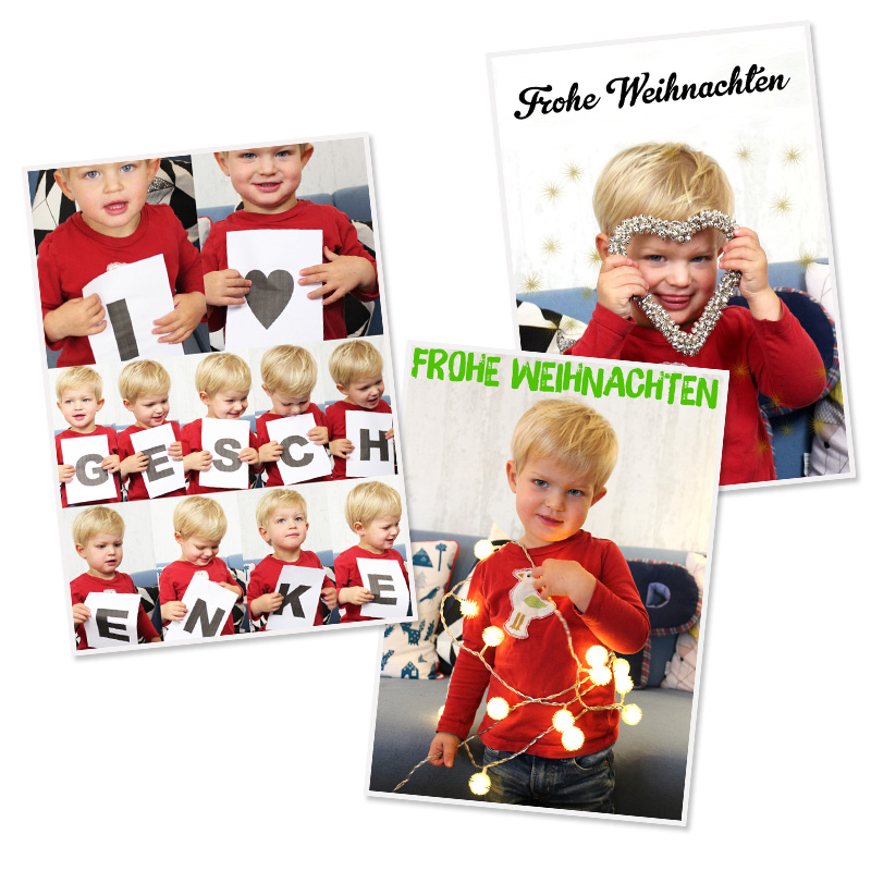 3 einfache weihnachts diy fotoideen mit kindern. Black Bedroom Furniture Sets. Home Design Ideas