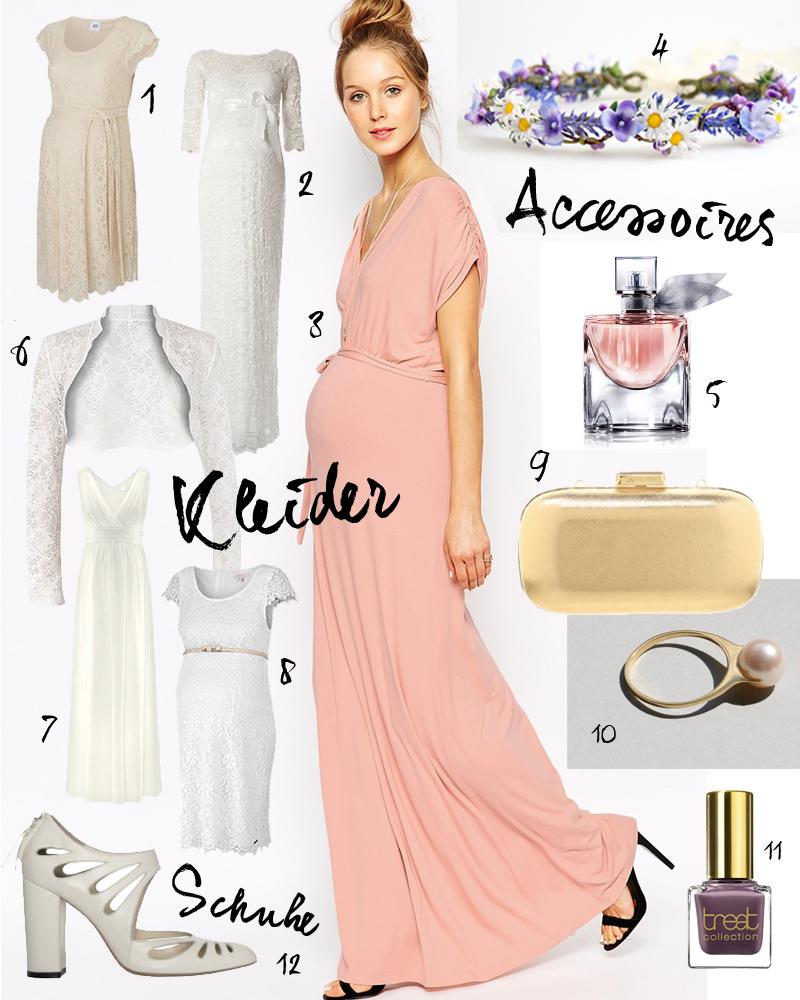 Heiraten mit Babybauch: Schöne Hochzeitskleider für Schwangere