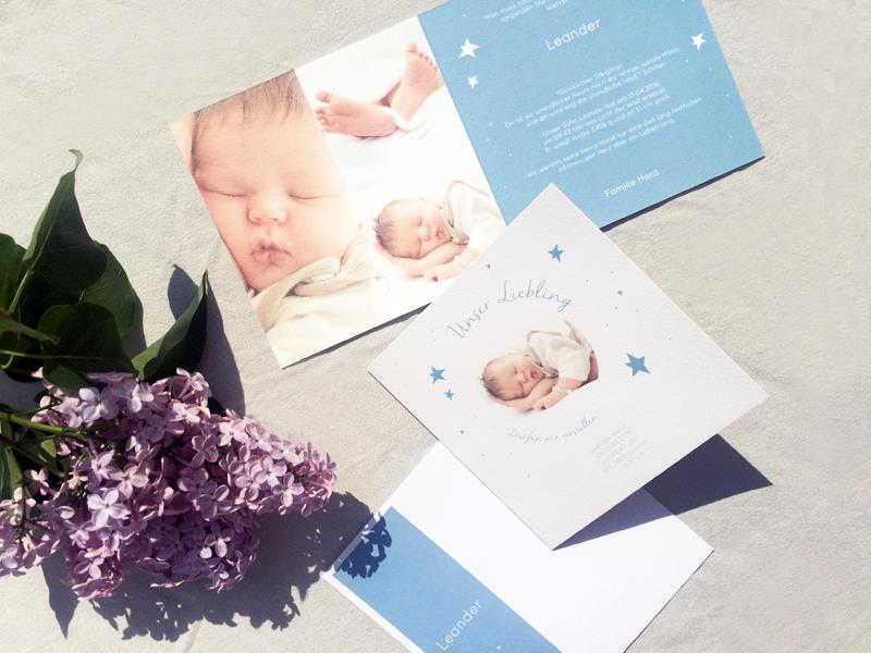 sendmoments Dankeskarte fuer die Geschenke zur Geburt 2