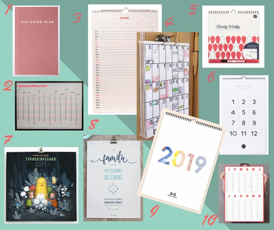 Die Allerbesten Familienkalender 2019