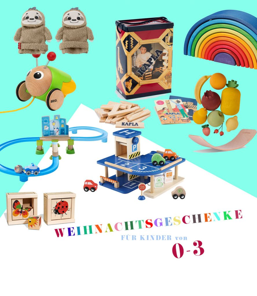 Spielzeug zu Weihnachten für Kinder von 0 - 3