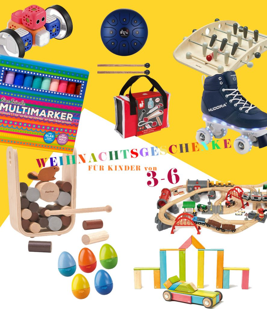 Spielzeug zu Weihnachten für Kinder von 3 - 6 Jahren